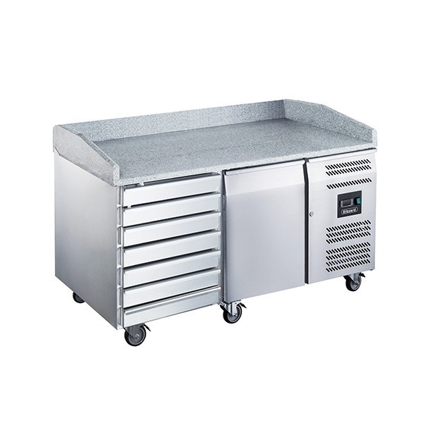 Blizzard BPB1500-7N Twin Refrigerated Prep Counter with Granite Work Top