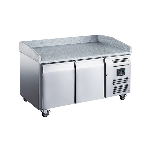 Blizzard BPB1500 Two Door Refrigerated Pizza Prep Counter with Granite Work Top