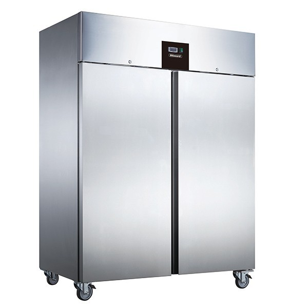 --- BLIZZARD BF2SS --- Double Door Upright Stainless Steel 1300 Litre Freezer