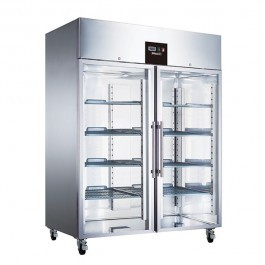 Blizzard BF2SSCR Upright Gastronorm 2/1 Twin Door Display Freezer
