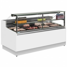 Trimco Brabant 200 MEAT White Serve Over Counter with Flat Glass