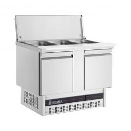 Inomak Inomak BSV77-HC Twin Door Gastronorm Saladette & Cutting Board 232 Litres