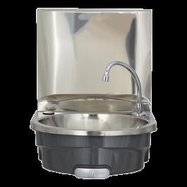Mechline BSX-400i-KVS Hands Free Wash Basin with Splashback & Manual Mixer