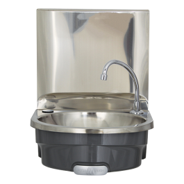 --- MECHLINE BSX-400i-KVS-T --- Hands Free Wash Basin with Splashback & Thermostatic Mixer