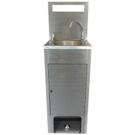 Mechline BSX-MHB-HCW Mobile Hand Wash Station for Fixed Waste and Water