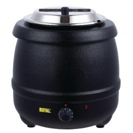 Buffalo L715 Black Soup Kettle - 10 Litres