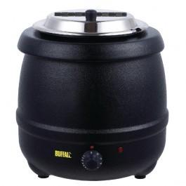 Buffalo L715 Black Soup Kettle - 10 Litres