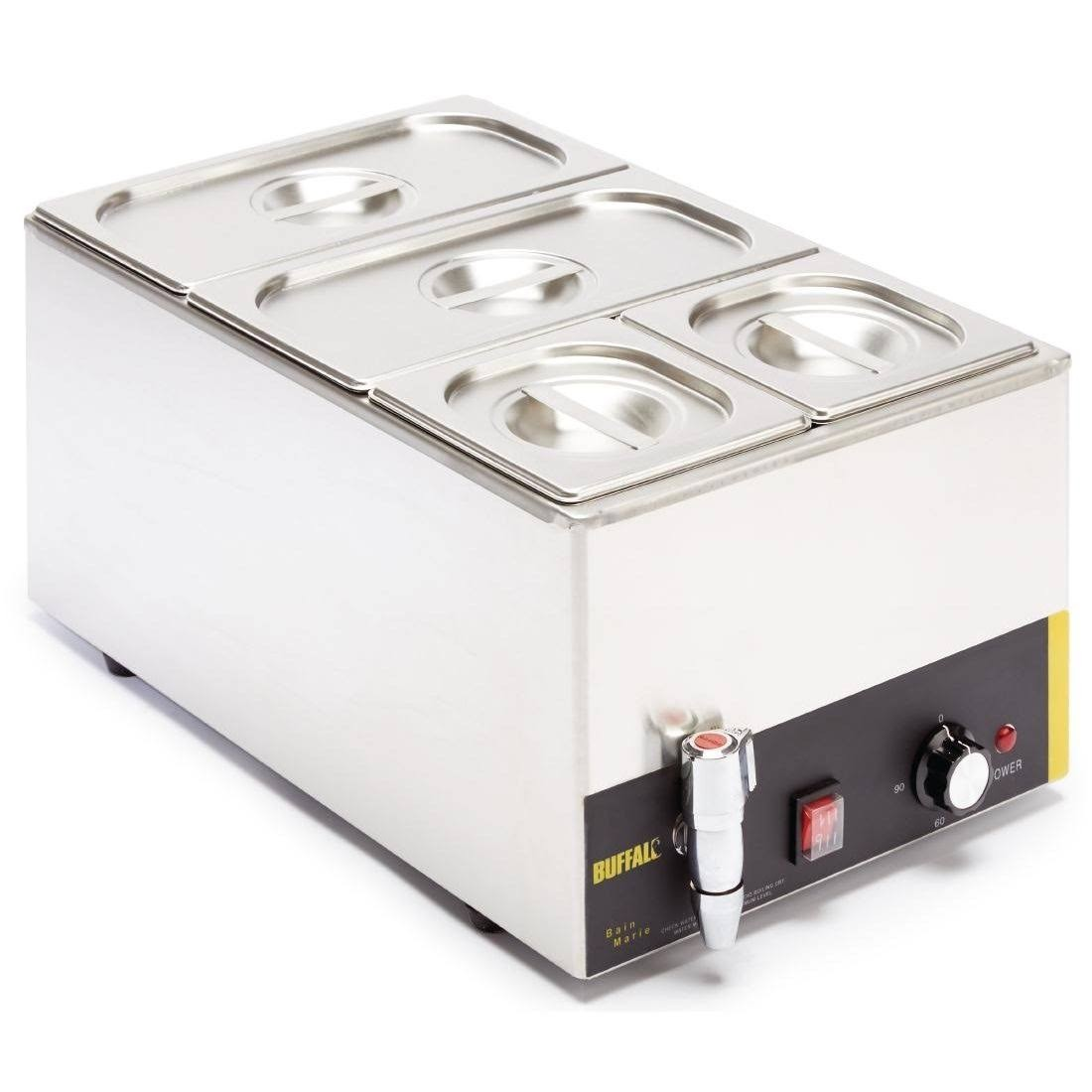 Buffalo S047 Wet Heat Bain Marie with Tap and Pans