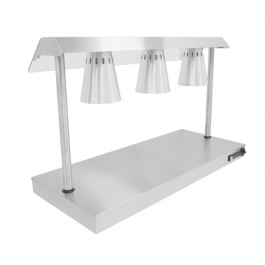 Parry C3LU Heated Carvery Servery Base with Three Heat Lamps