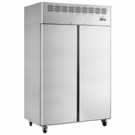 Interlevin CAF900 Stainless Steel Twin Upright Freezer