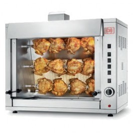 CB Rotisseries G12P-S3 Three Spit Gas Chicken Rotisserie