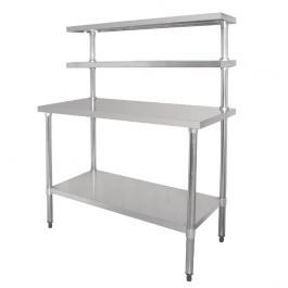 Vogue CC359 Stainless Steel Prep Station 2 Gantry Shelves - W1200xD600mm