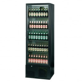 --- INFRICO ZX10 --- Upright Charcoal Bottle Cooler with Black Hinged Door