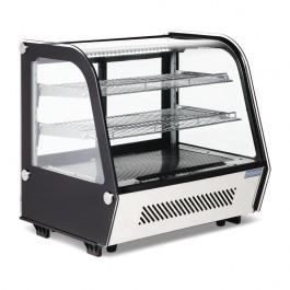 Polar CD229 120 litre Black Curved Counter Top Display