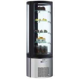 Blizzard CD400R Round Upright Cake Display with Manual Rotating Shelf