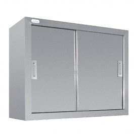 Vogue CE150 Stainless Steel Wall Cupboard With Adjustable Shelf - 900mm