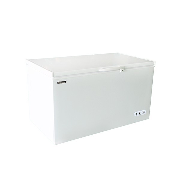 Blizzard CF450WH Chest Freezer with a White Lid & One Basket