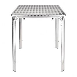 Bolero U505 Aluminium & Stainless Steel Stackable Square Leg Table - 700mm