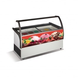 Crystal VENUS ELEGANT 36 Napoli Ice Cream with Curved Display & Scoop Wash