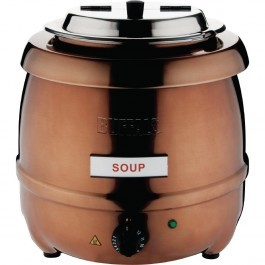 Buffalo CP851 Cooper Finish Soup Kettle with Adjustable Heating - 10 Litres