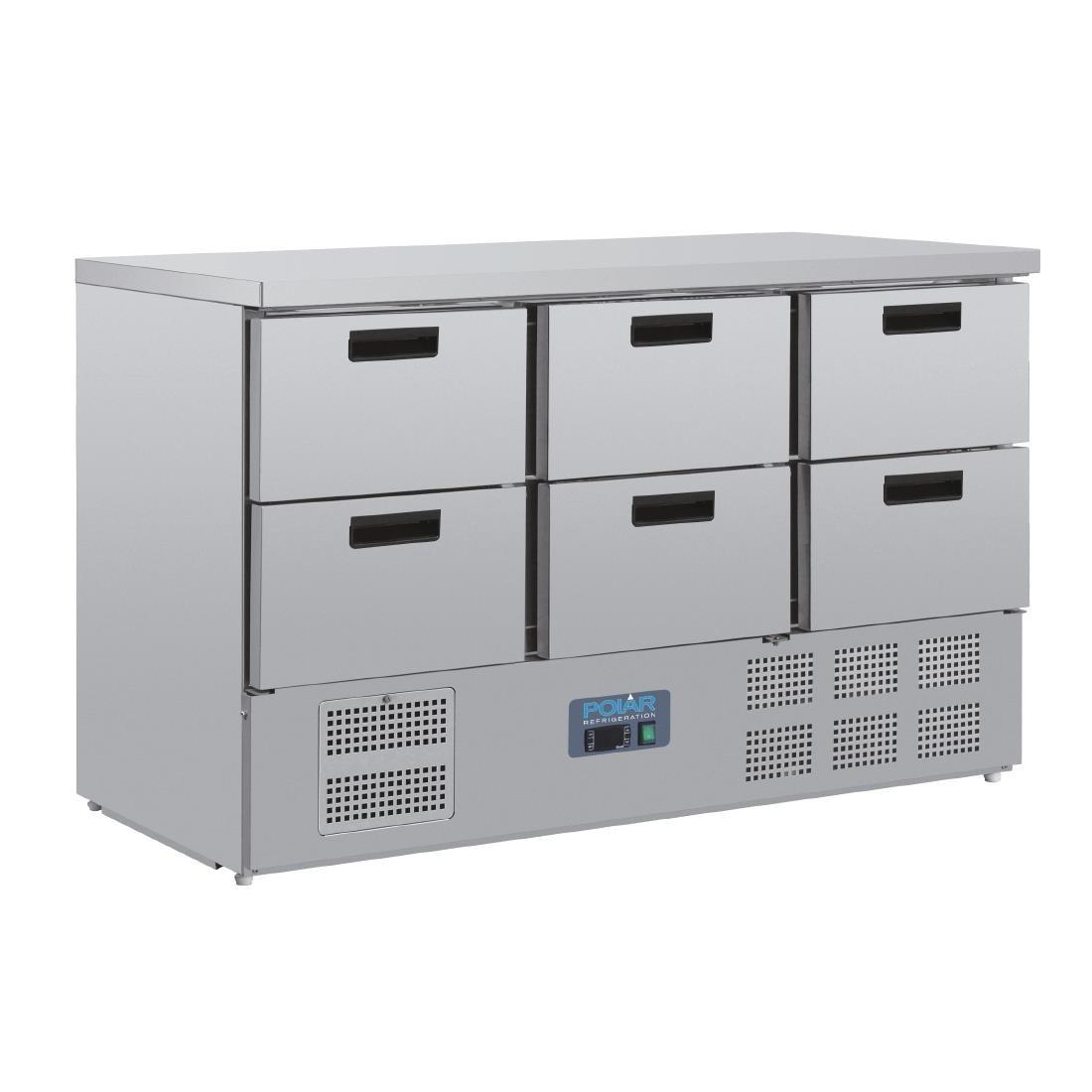 Polar CR711 G-Series Six Drawer Counter Fridge
