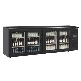 Polar CS103 U-Series Four Door Back Bar Sliding Display Cooler