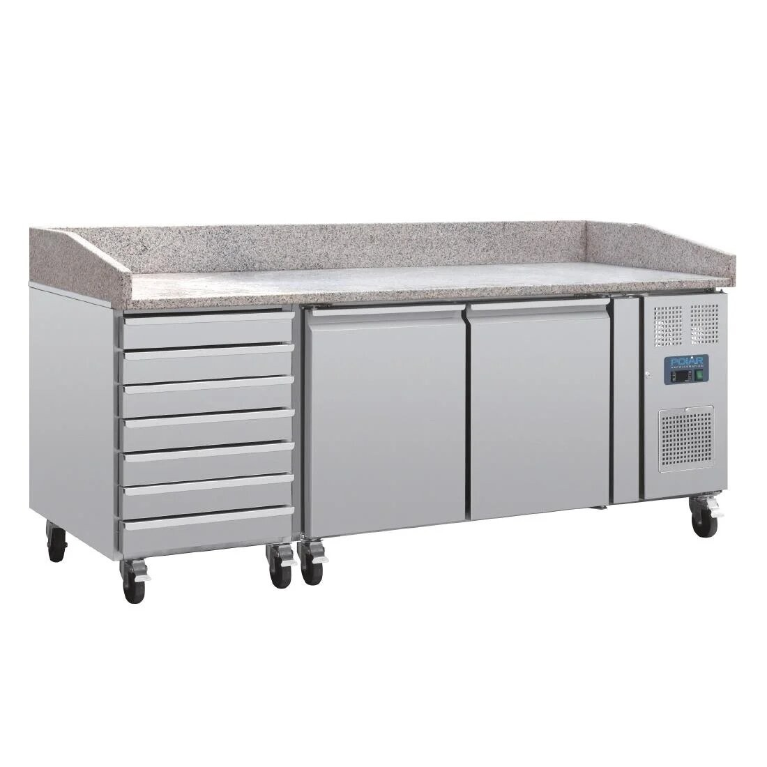 Polar CT423 U-Series Pizza Counter with Marble Top and Dough Drawers