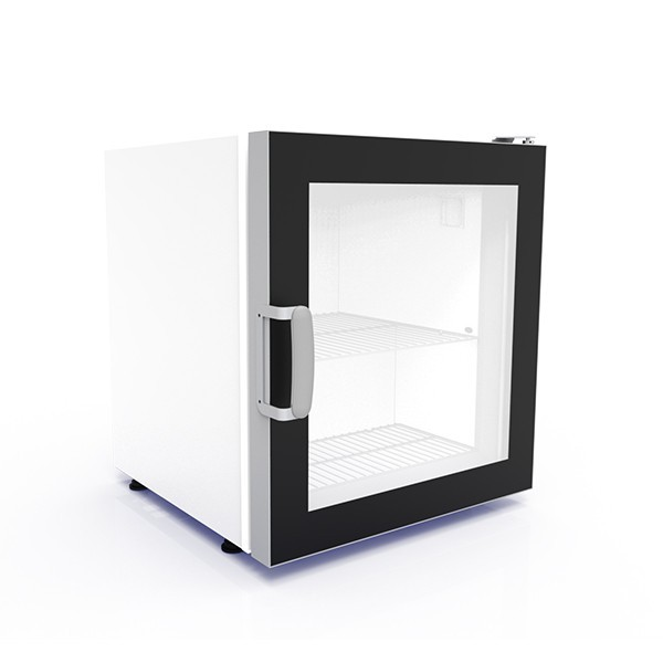Crystal CTF70 White Counter Top Freezer with Heated Triple Glazed Door