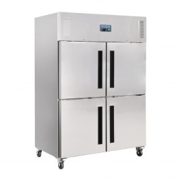 Polar CW195 Stainless Steel Double Stable Door Gastro Refrigerator