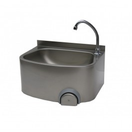 Parry CWBKNEE Stainless Steel Knee Operated Hand Wash Basin with Tap