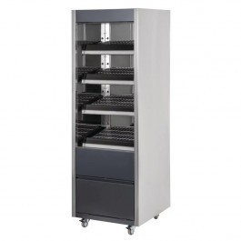 Buffalo CY557 Heated Mirrored & Grey Merchandiser with LED Lighting - W600mm