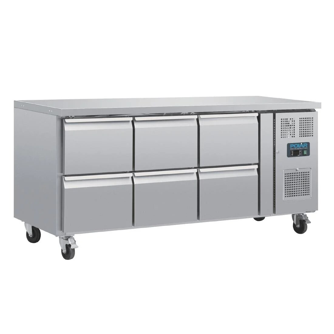 --- POLAR DA548 --- U-Series Six Drawer Gastronorm Counter Fridge