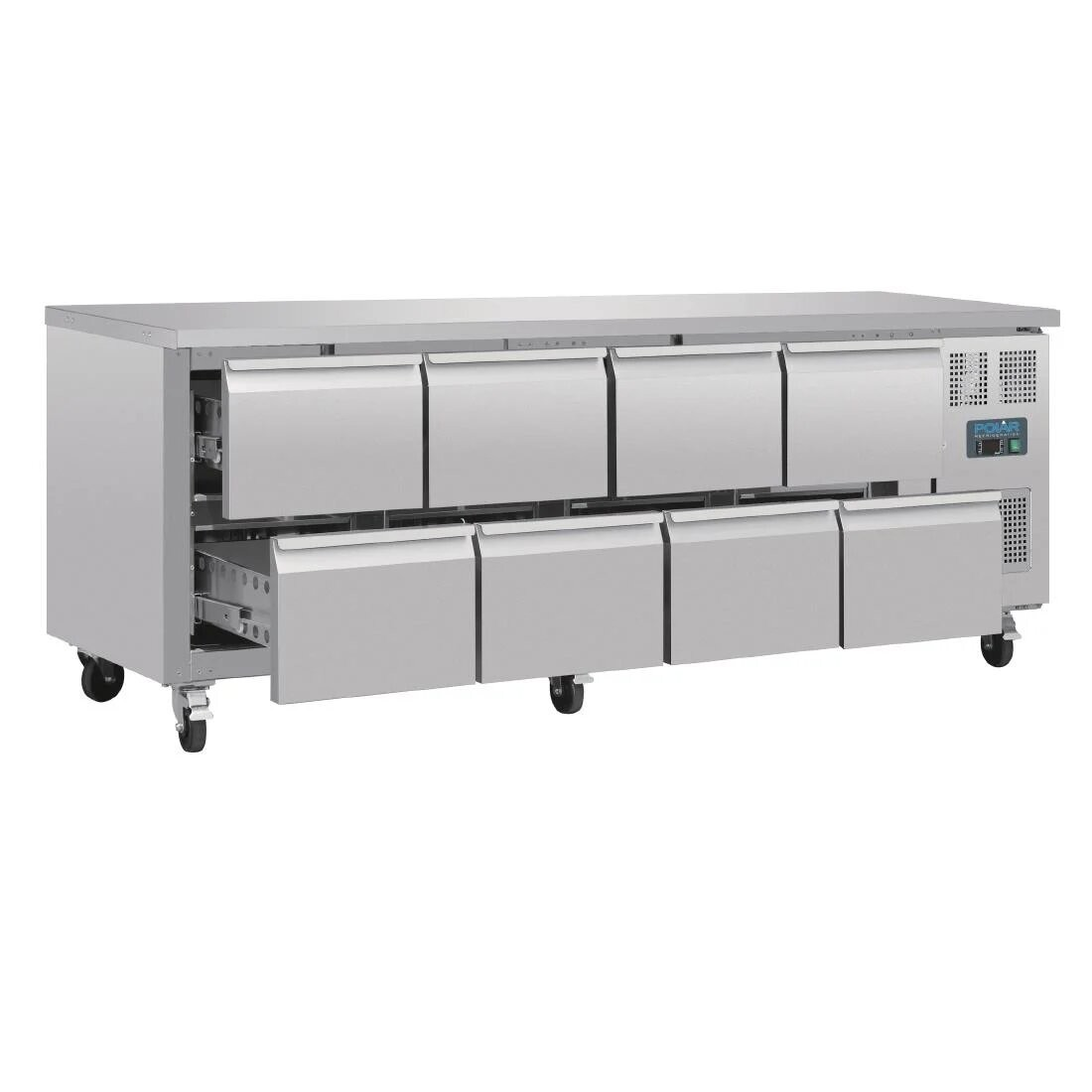 Polar DA549 U-Series Eight Drawer Gastronorm Counter Fridge