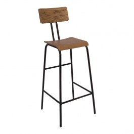 Bolero DA597 Industrial Highstool Metal Base with Plywood Seat - Pack of 2