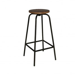Bolero DA598 Industrial Highstool Metal Base with Plywood Seat - Pack of 2