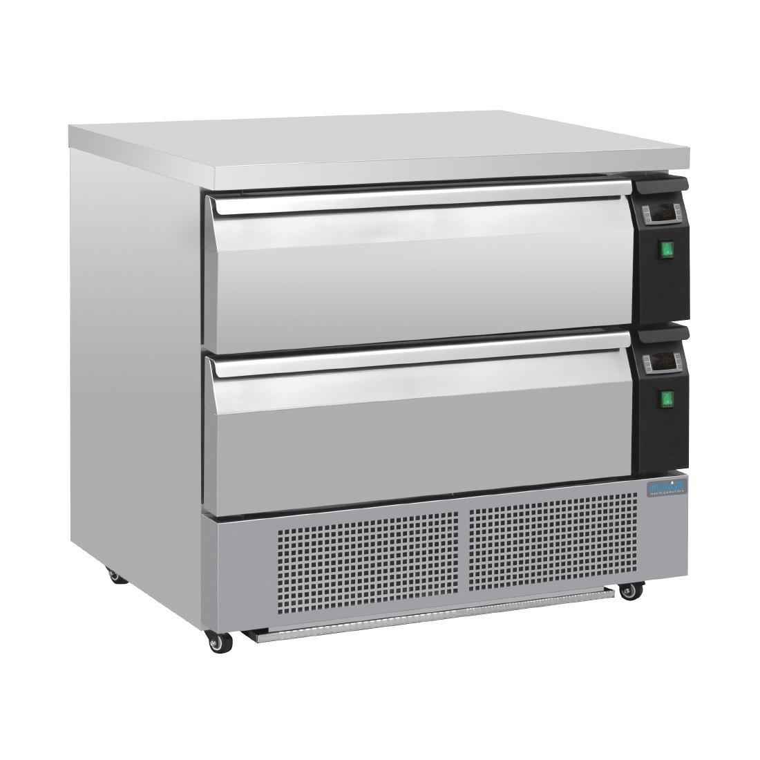 --- POLAR DA996 --- U-Series Double Drawer Counter Fridge Freezer