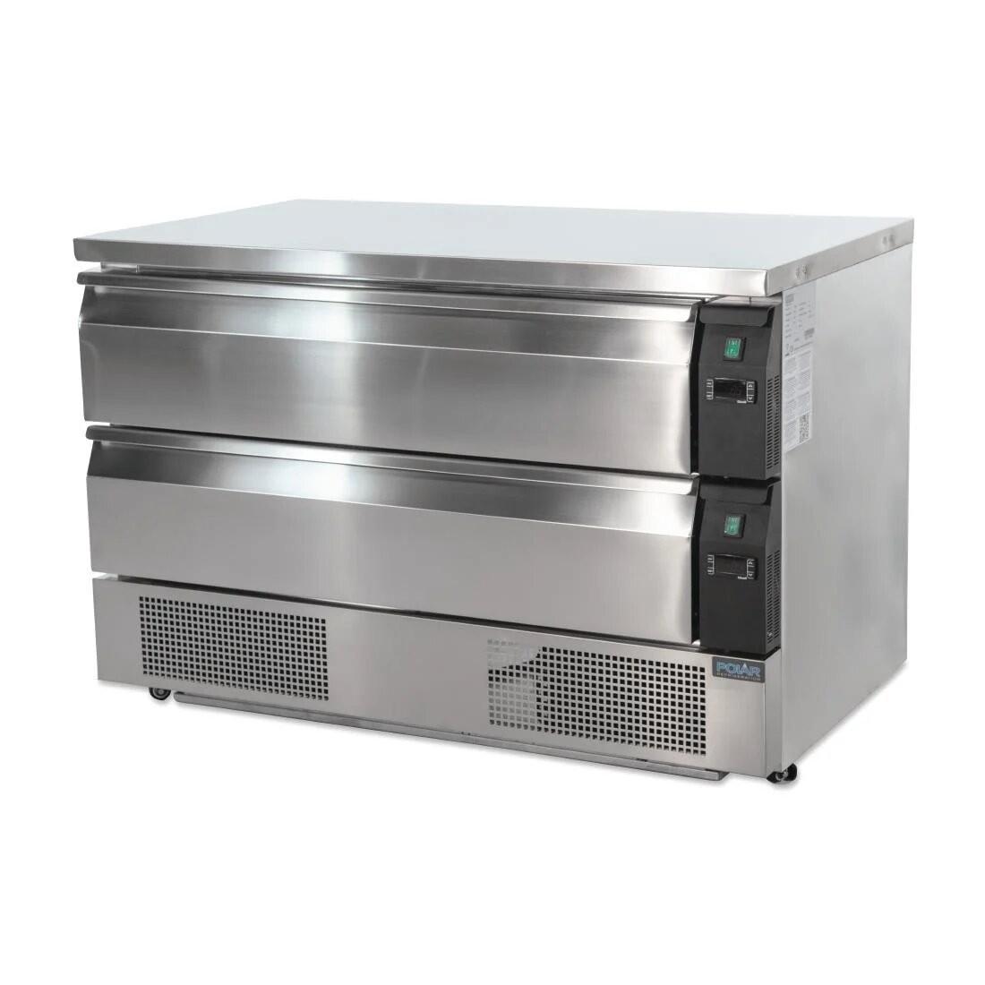 Polar DA997 U-Series Double Drawer Counter Fridge Freezer