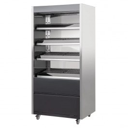 Buffalo DB197 Mirrored & Grey Heated Merchandiser with LED Lighting W900mm