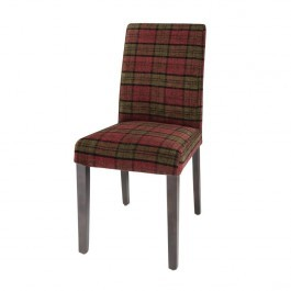 Bolero DB988 Claret Tartan Dale Dining Chair - Pack 2