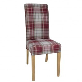 Bolero DB989 Wine Tartan Austin Dining Chair - Pack 2