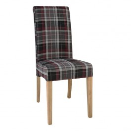 Bolero DB990 Grey Tartan Austin Dining Chair - Pack 2