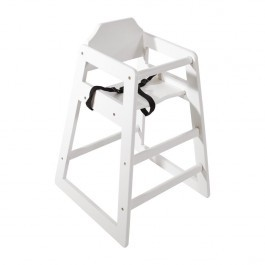 Bolero DL833 Stackable Antique White Wooden Highchair - Seat Height 500mm