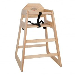 Bolero DL900 Stackable Natural Wood Finish Wooden Highchair - Seat Height 500mm