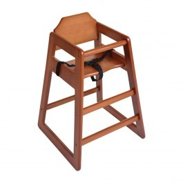 Bolero DL901 Dark Wood Finish Wooden Highchair - Seat Height 500mm