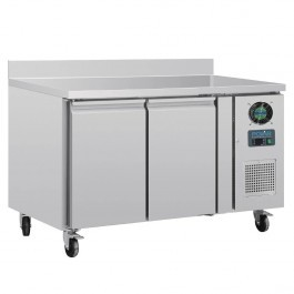 Polar DL916 2 Door Prep Counter Freezer with Upstand
