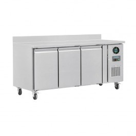 Polar DL917 U-Series Three Door Prep Counter Freezer with Upstand - 417 Litres