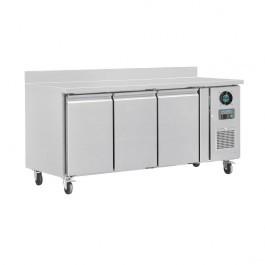 Polar DL917 U-Series Three Door Prep Counter Freezer with Upstand - 417 Litres