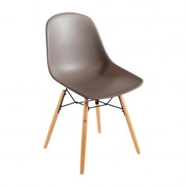 Bolero DM842 Coffee Polypropylene Arlo Shell Side Chair & Steel Frame - Pack 2