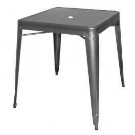 Bolero DM904 Gun Metal Grey Bistro Steel Square Stackable Table - 668mm
