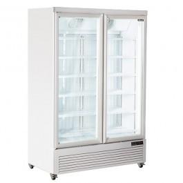 Blizzard DN800 White Laminated Upright Twin Display Freezer